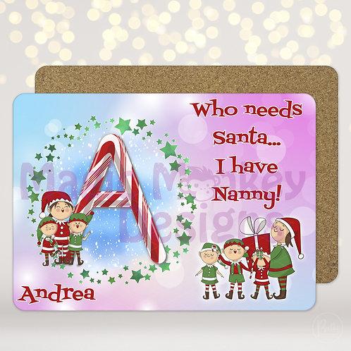 Who needs Santa.... placemat