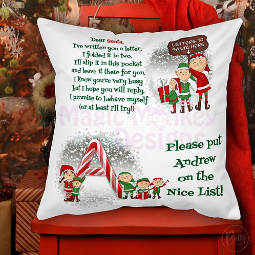 Letter to Santa Pocket Cushion