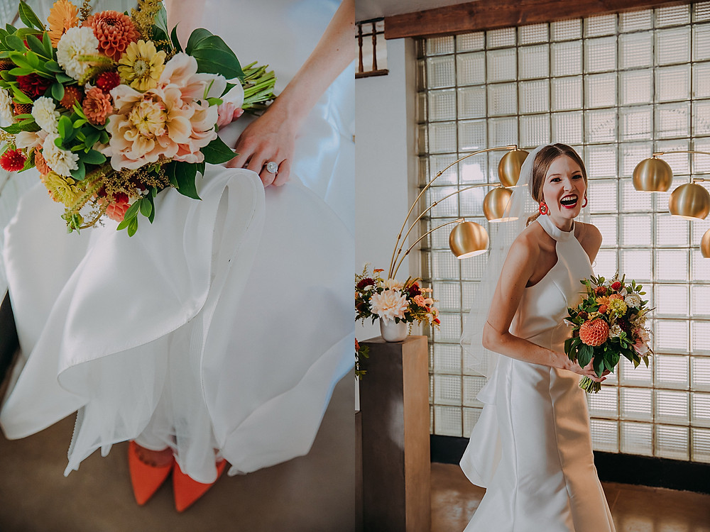 60s inspired bridal look in Milwaukee, Wisconsin