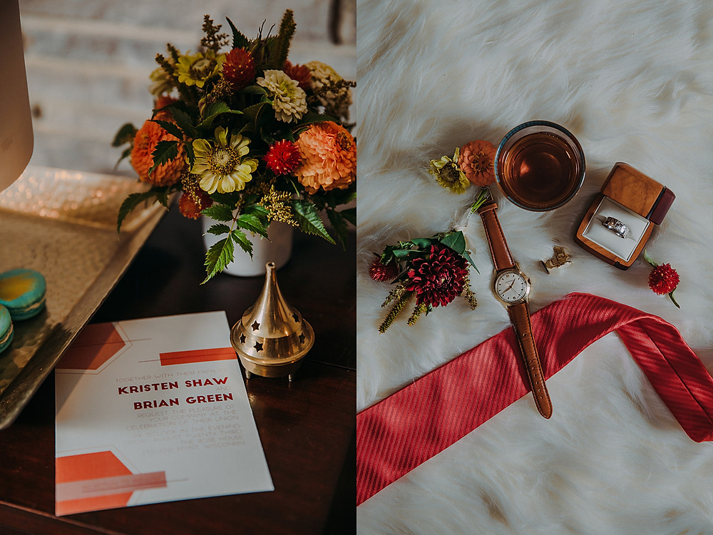 geometric inspired wedding details in Milwaukee, Wisconsin