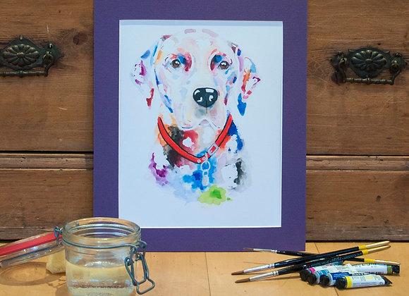 A4 Giclée Print - Black Labrador