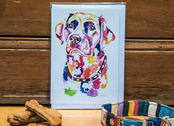 Greeting Card - Chocolate Labrador