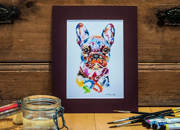 A5 Giclée Print - French Bulldog