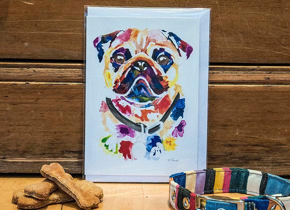 Greeting Card - Pug