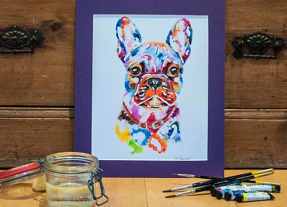 A4 Giclée Print - French Bulldog