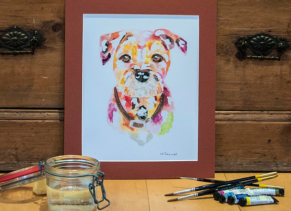 A4 Giclée Print - Border Terrier
