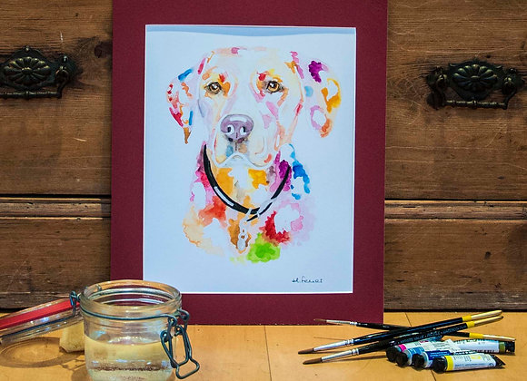 A4 Giclée Print - Golden Labrador