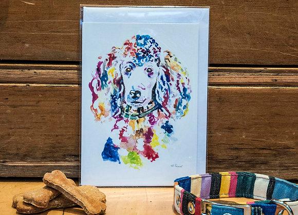 Greeting Card - Poodle