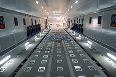 A400M part task trainer accurately replicates internal space of aircraft.