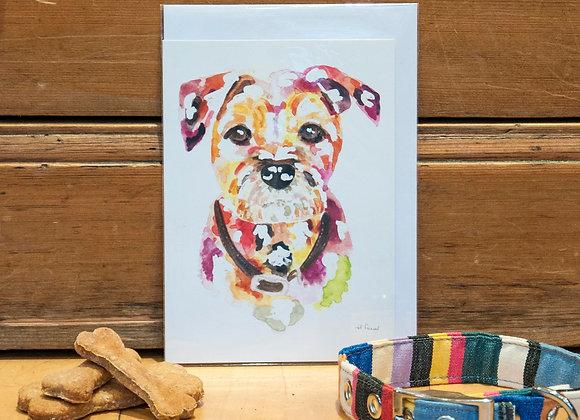 Greeting Card - Border Terrier