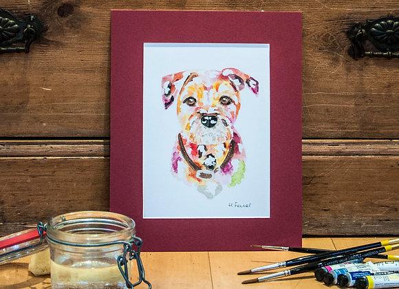 A5 Giclée Print - Border Terrier