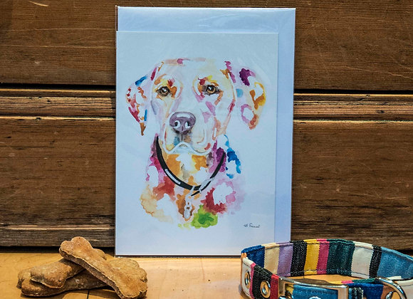 Greeting Card - Golden Labrador