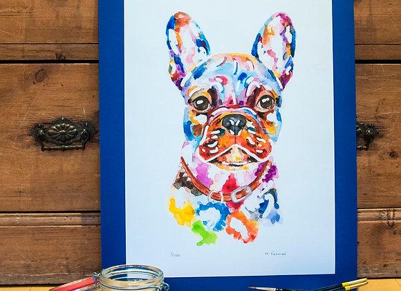 A3 Giclée Print - French Bulldog
