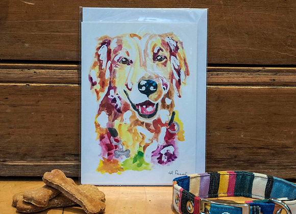 Greeting Card - Retriever