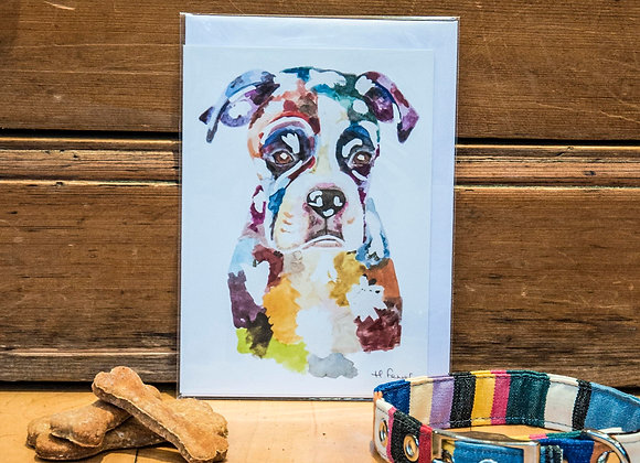Greeting Card - Boxer