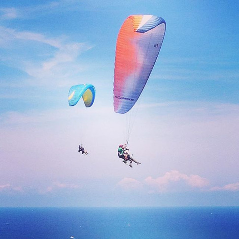 The Leo's brother flying tandem