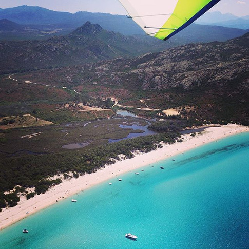 Saleccia beach from the Flying Boat with Altore