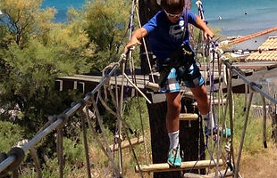 Adventure park in Calvi, by the sea