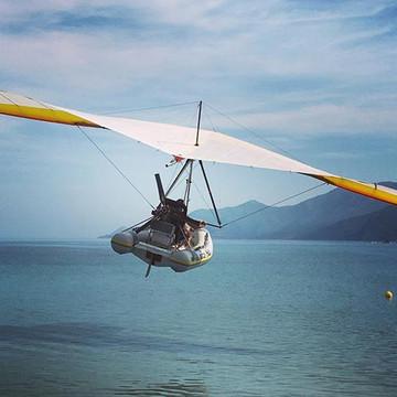 Le bateau volant au décollage