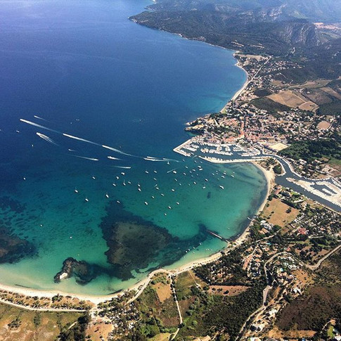Saint Florent from the Flying Boat with Altore