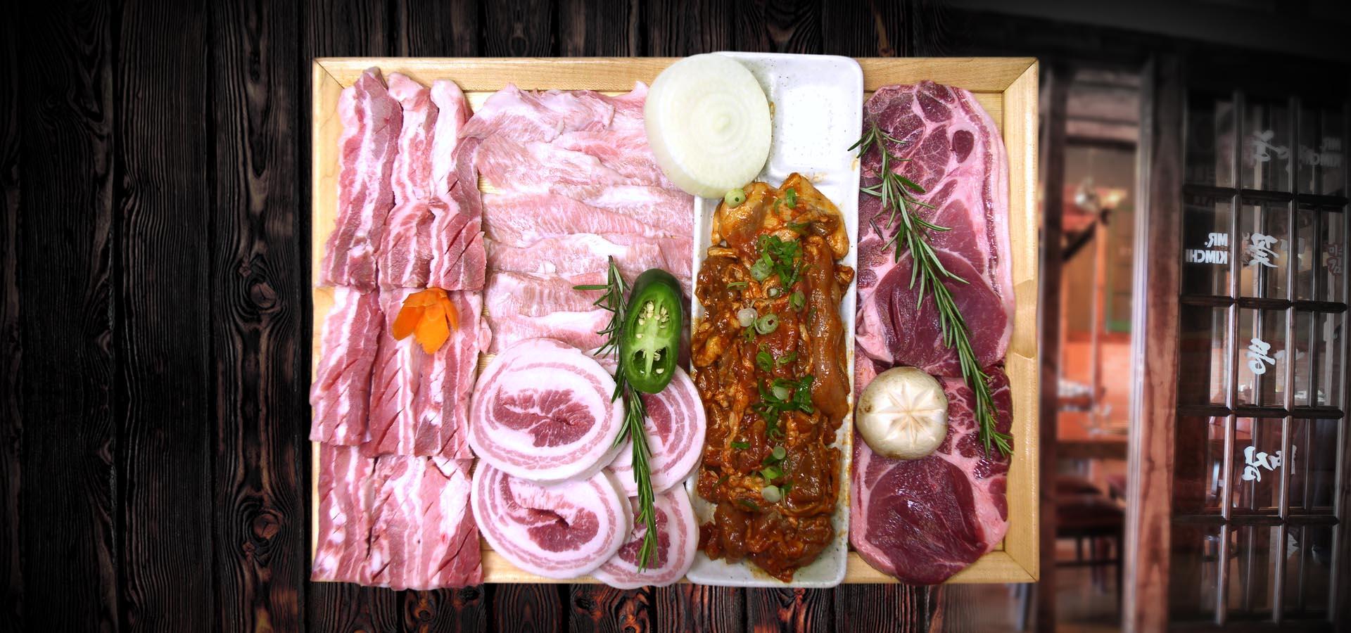 Mr Kimchi BBQ Combo PORK
