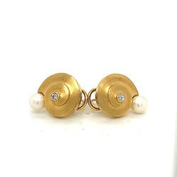 Muschelohrclips.Perle.Goldschmiede