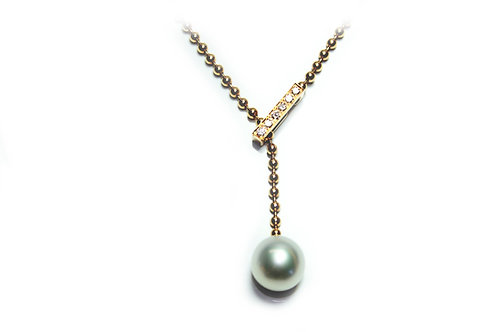 Collier Perle & Brillianten