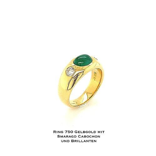 Gelbgold - Ring mit Farbstein