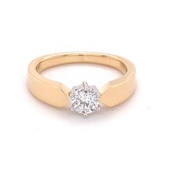 Diamant-Rein-Gelbgold.Ring