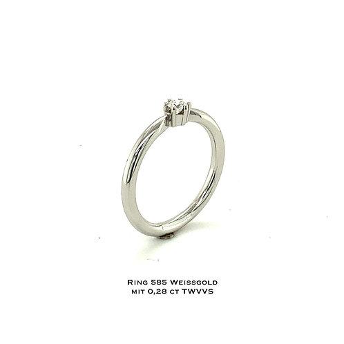 Vorsteckring in 750 WG/Diamant