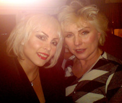 Michelle with Debbie Harry