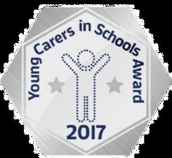 Young Carers Silver 2017 Award Logo
