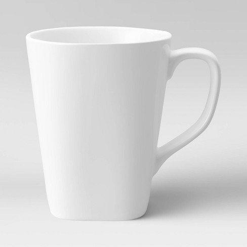 White Porcelain Geometric Mug