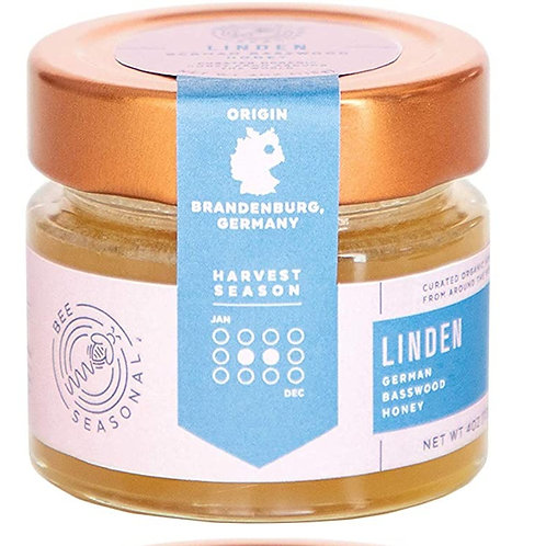 Bee Seasonal Organic Raw Linden Honey