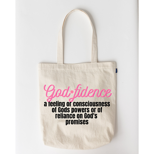 Let the Words of My Mouth | Godfidence Tote Bag | White