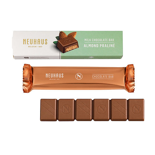 Neuhaus Milk Chocolate Almond Praliné Bar, 55g, 3 pcs