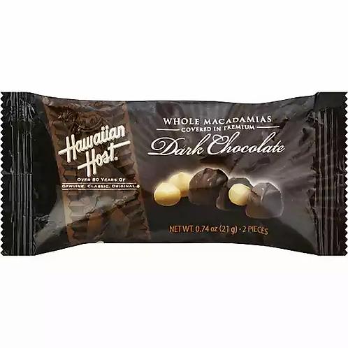 Hawaiian Host Macadamia Nuts, Dark Chocolate Covered, 0.74 Oz