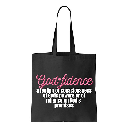 Let the Words of My Mouth | Godfidence Tote Bag | Black