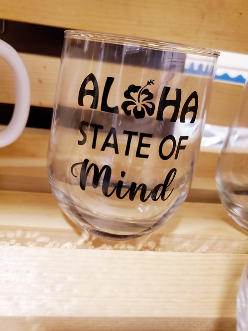 Aloha State of Mind | Stemless Wine Glass