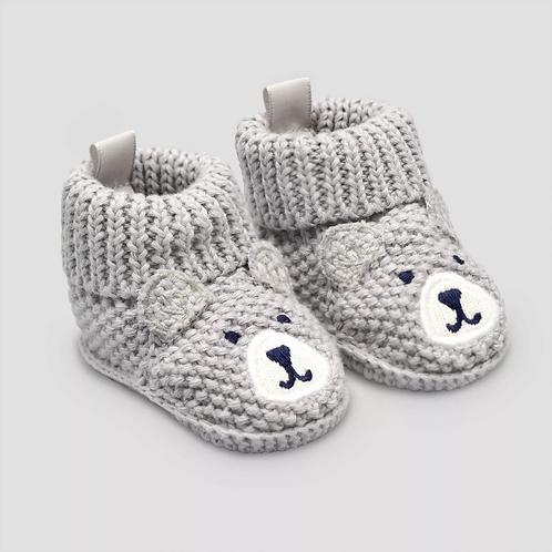 Baby Boys' Knitted Bear Slipper - Carter's Gray Newborn