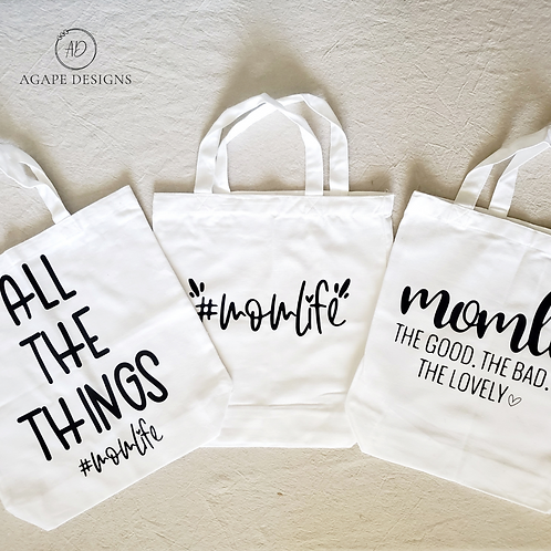 Mom Life Tote Bags