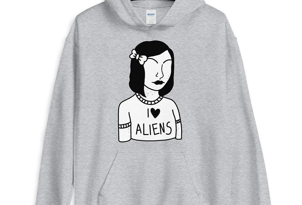 I love Aliens Unisex Hoodie