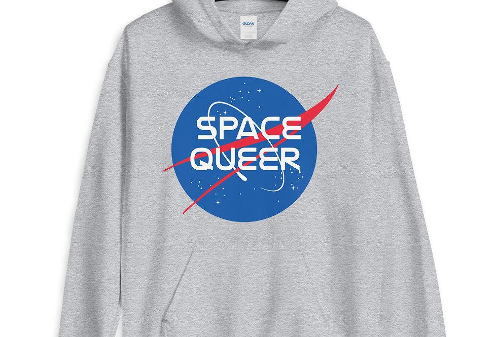 Space Queer Nasa Logo Cool Hoodie Unisex