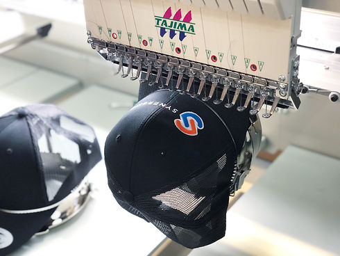Embrodery on hats in Canada