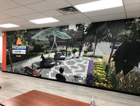 Affichage murale grand format
