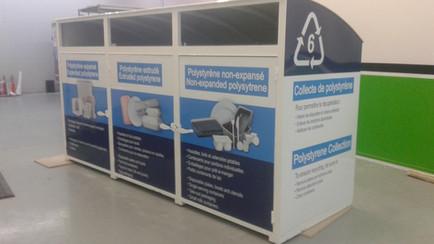 Affichage sur contenants de recyclage