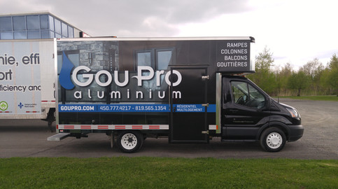 Commercial vehicle wraps and lettering