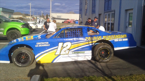 Racing vehicle wraps and lettering