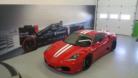 Wrap esthétique de véhicule Ferrari