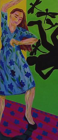 Tänzerin mit blauem Kleid